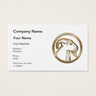 Brass and Copper Capricorn Zodiac Astrology Business Card