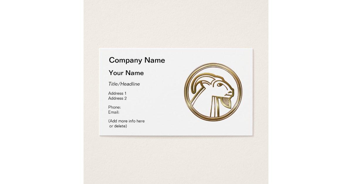 Brass and Copper Capricorn Zodiac Astrology Business Card   Zazzle.com