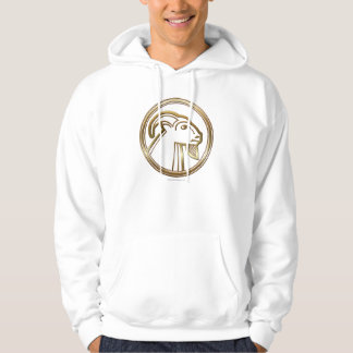 Brass and Copper Capricorn Zodiac Astrology Hoodie
