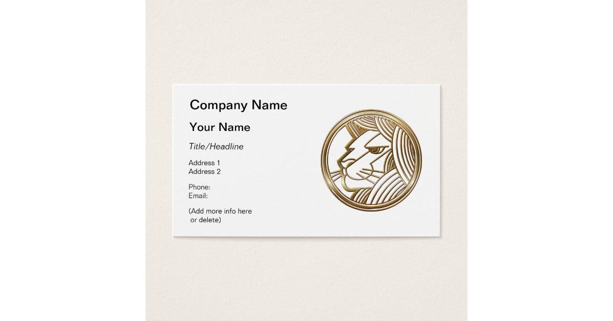 Brass and Copper Leo Zodiac Astrology Business Card | Zazzle.com