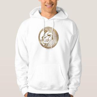 Brass and Copper Leo Zodiac Astrology Hoodie