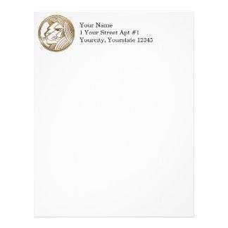 Brass and Copper Leo Zodiac Astrology Letterhead