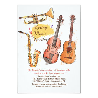 Brass and String Instruments Invitation
