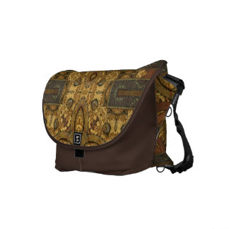 Brass and Verdigris Steampunk Courier Bag