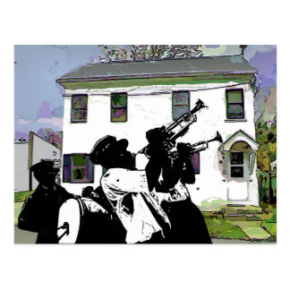 Brass Band at Delaware House Postcard