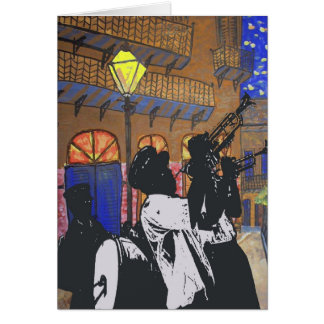 Brass Band At Pirates Alley Card