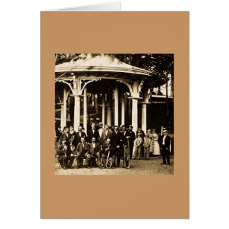 Brass Band at Saratoga Springs, New York ca. 1860s Card