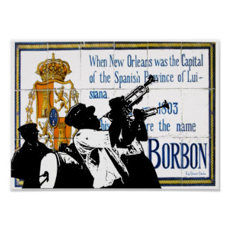 Brass Band Bourbon St Tile Mural Poster