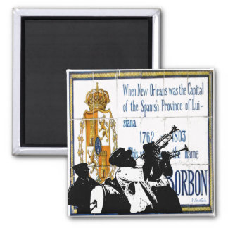 Brass Band Bourbon St. Tiles Magnet