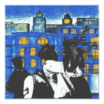"""Brass Band, New Orleans 5.25"""" Square Invitation Card"""