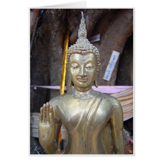 Brass Buddha Card