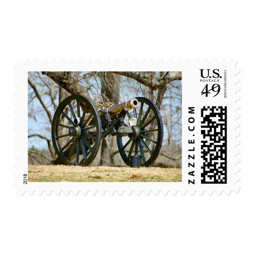 Brass Cannon Postage Stamps