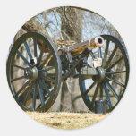 Brass Cannon Round Stickers