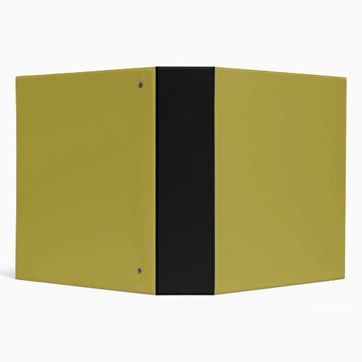 Brass Classic Colored Vinyl Binder