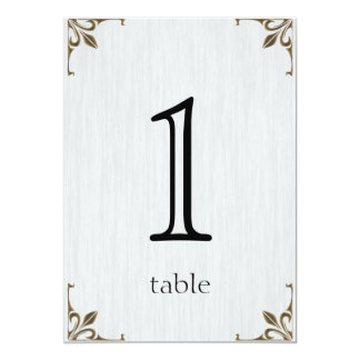 Brass Clock 1st Anniversary Table Number