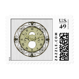 Brass Clock 1st Wedding Anniversary Stamp