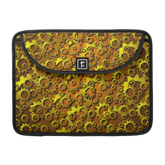 Brass Copper Cogs and Gears Macbook Sleeve