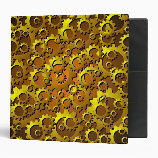 Brass Cpper Cogs and Gears Binder