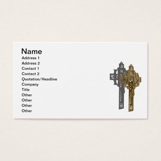 Brass Crucifix Business Card