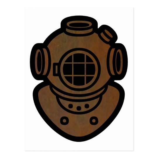 Brass Diving Helmet Postcard