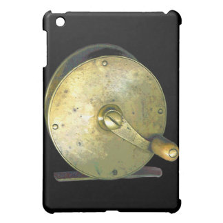 Brass Fishing Reel 1800's Cover For The iPad Mini