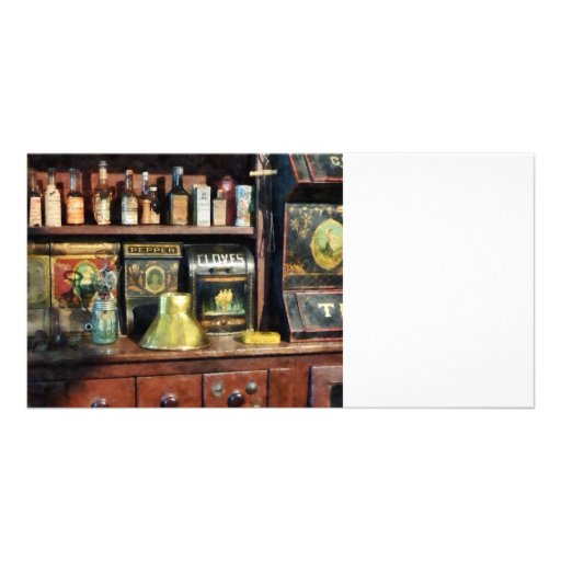 Brass Funnel and Spices Picture Card