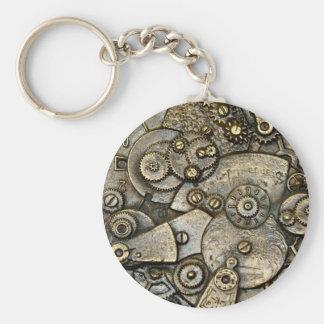 Brass Gear Mechanism Pocket Watch Key Chain