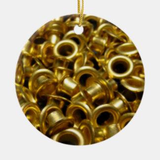 Brass Grommets Tree Ornament