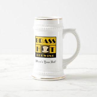 Brass Hat Brewing Stein Coffee Mug