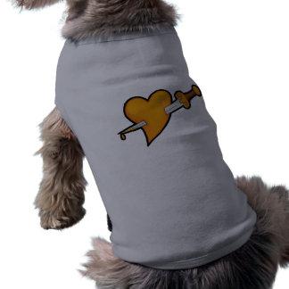 Brass Heart and Dagger Tattoo T-Shirt