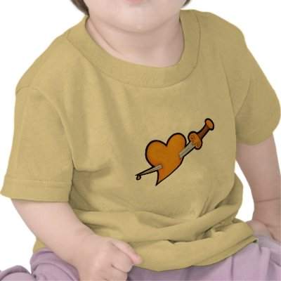 Brass Heart and Dagger Tattoo T Shirts by toxiferousdark