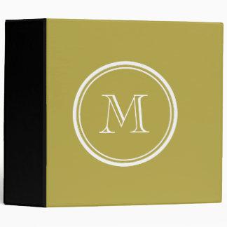 Brass High End Colored Monogrammed Vinyl Binders