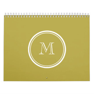 Brass High End Colored Monogrammed Calendar