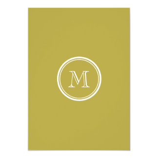 Brass High End Colored Monogrammed Card