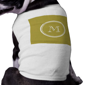 Brass High End Colored Monogrammed Pet Tshirt