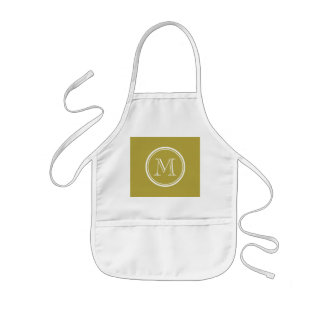 Brass High End Colored Monogrammed Kids' Apron