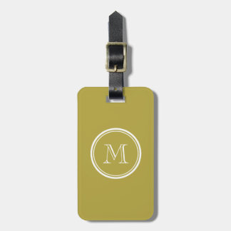 Brass High End Colored Monogrammed Luggage Tag