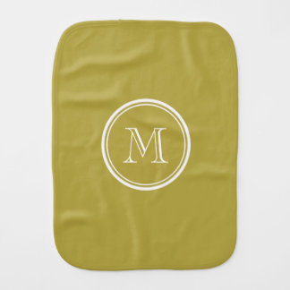 Brass High End Colored Monogrammed Baby Burp Cloth