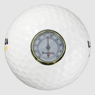 Brass Humidity Meter Golf Ball