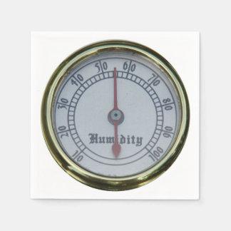 Brass Humidity Meter Paper Napkin