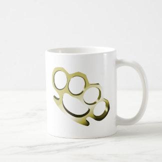 Brass Knuckles Classic White Coffee Mug
