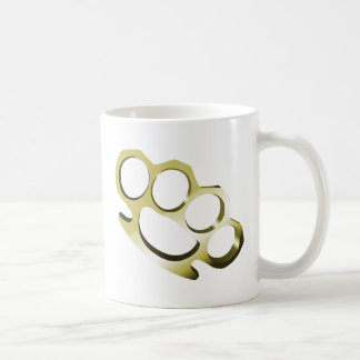 Brass Knuckles Classic White Coffee Mug