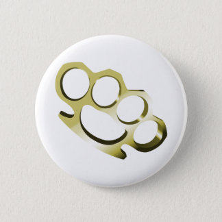 Brass Knuckles Pinback Button