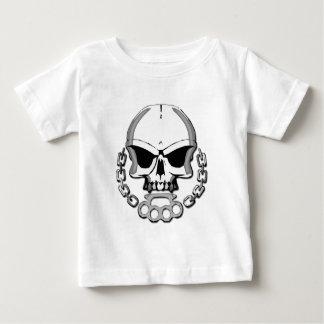 Brass knuckles skull baby T-Shirt