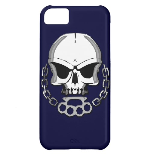 Brass knuckles skull iPhone 5C covers