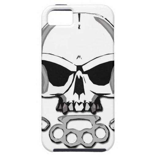 Brass knuckles skull iPhone 5 case