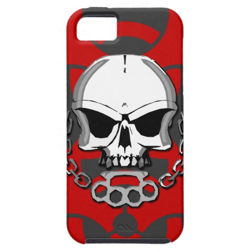Brass knuckles skull iPhone 5 cover