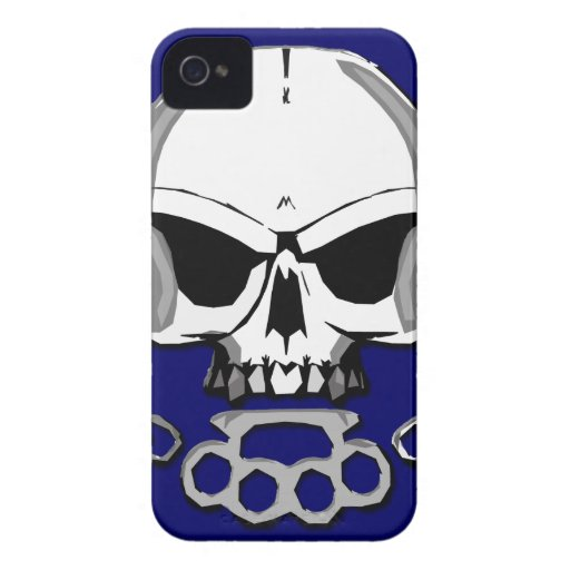 Brass knuckles skull iPhone 4 Case-Mate cases
