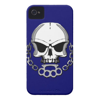 Brass knuckles skull iPhone 4 case