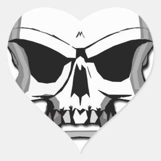 Brass knuckles skull heart sticker
